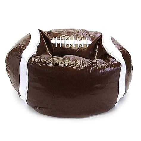 college football bean bag chairs sports football bean bag chair in brown bed bath beyond
