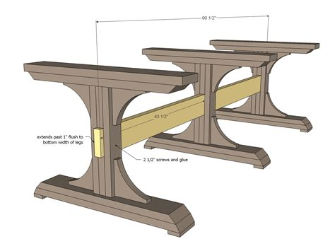 woodworking plans white pedestal farmhouse table diy projects