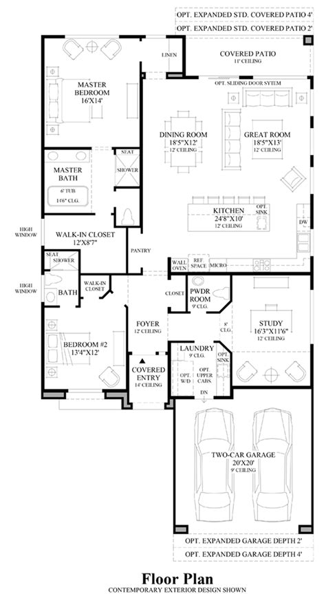 Windgate Ranch Scottsdale Ocotillo Collection The Moda Floor Plans Arizona