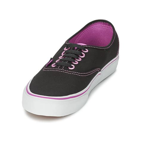 cheap vans authentic low top shoes black pink vans shoes