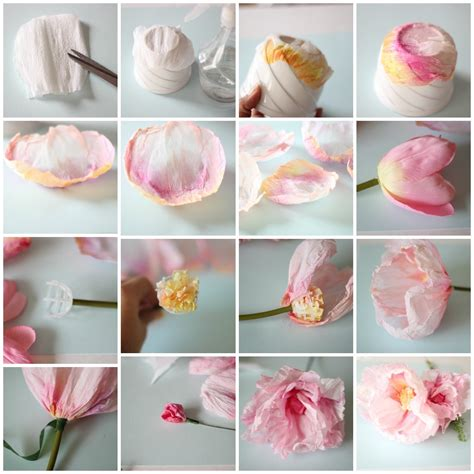 How To Make Crepe Paper Flowers - crepe and watercolor flower tutorial