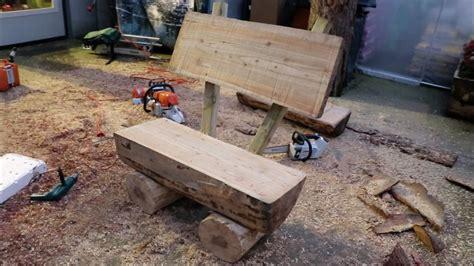 panchina di legno come costruire una panchina da giardino con tronchi di