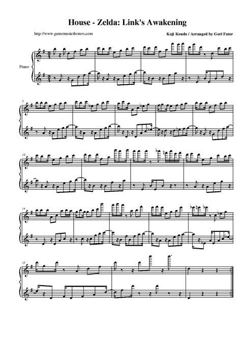zelda house music game music themes the legend of zelda link s awakening sheet music