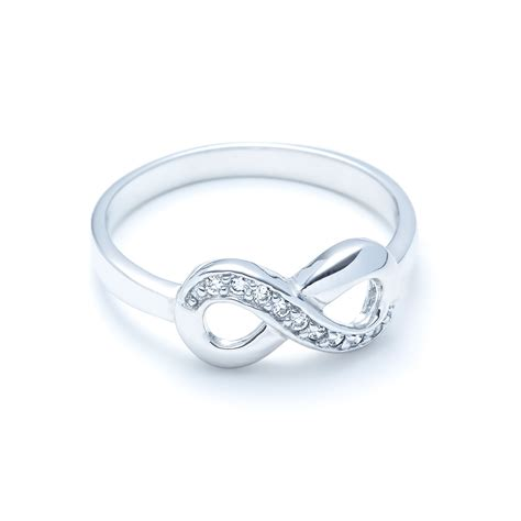 infinity ring silver sterling silver infinity ring with cz landing company