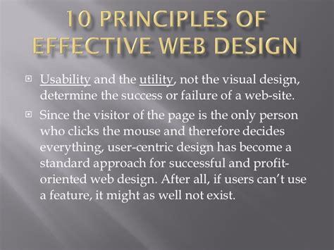 visitor pattern utility 10 principles of effective web design