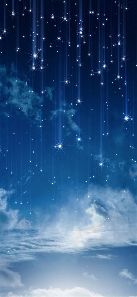 sky moonlight nature night stars clouds