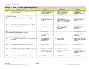 Risk Assessment Security Survey Template by Risk Assessment In Business Continuity Process Risk