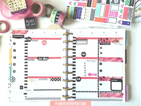 layout planner plan create repeat weekly planner layout april 4 10 in