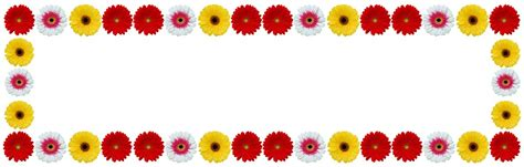 Flower Frame Gerbera Color · Free photo on Pixabay Free Vector Food Clipart