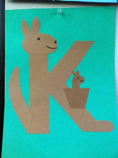 Kangaroo Paper Craft - k is for kangaroo storytime books songs rhymes and