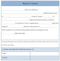 business contract template free contract template for business exle of business