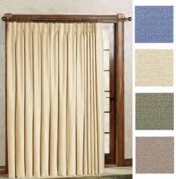 pinch pleat patio door drapes new crosby pinch pleat thermal patio panel 96 wide by