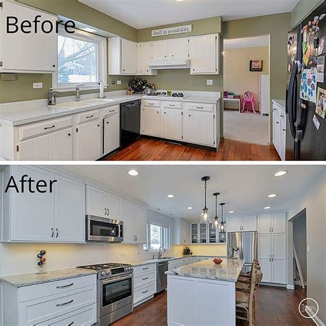 kitchen cabinets naperville before and after of a kitchen we remodeled in naperville
