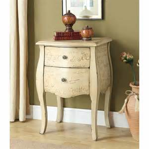32 Inch High Nightstands Antique White 2 Drawer Chest End Table Modern
