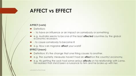 affects meaning mistakes in english