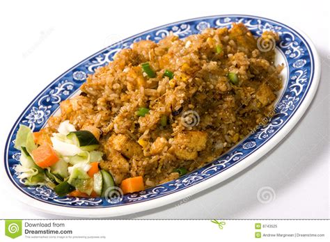 fried rice plate royalty  stock photo image