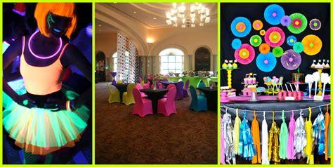 ideas para decorar un salon de zumba fiesta flourescente blog de la fiesta de 15