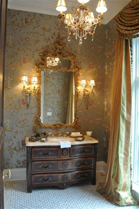 beautiful powder rooms english style beautiful powder room wallpaper is jester