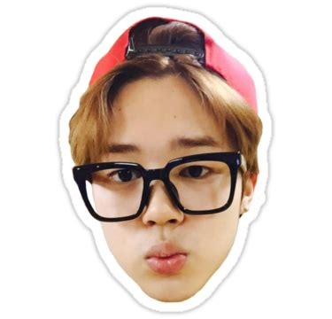 Kawaii Home Decor by Quot Jimin Selca Bts Quot Stickers By Ichigobunny Redbubble