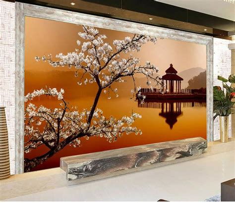 3d wall mural aliexpress buy modern 3d wall murals wallpaper photo hd beautiful landscape