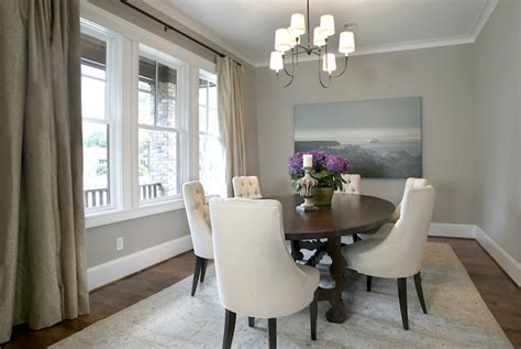 Gray Dining Room by Gray Linen Dining Chairs Transitional Dining Room