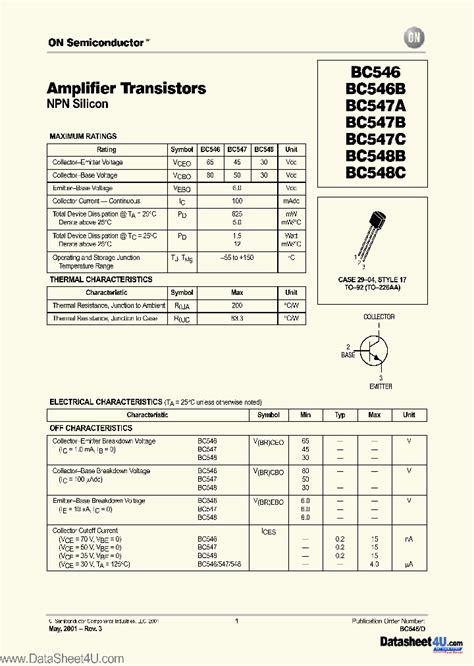transistor bc547c datasheet bc547c 2695690 pdf datasheet ic on line