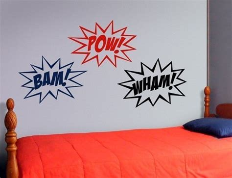 pow wall stickers wall decal sounds comic book vinyl