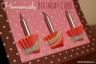 homemade birthday card kid made