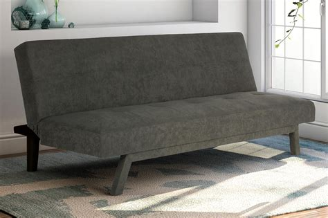 Sturdy Sofa Beds Futon Sofa Bed Lounge Bed Upholstered Sturdy Convertible Sleeper Gray New Ebay