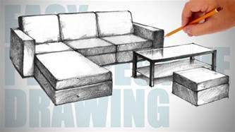 sofa drawing how to draw furniture sofa easy perspective drawing 23