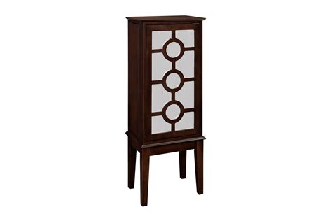 powell mirrored jewelry armoire java and mirror jewelry armoire powell 566 523