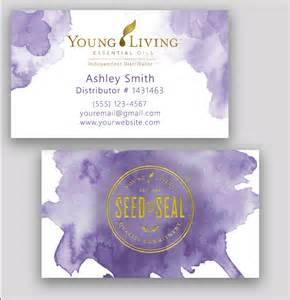 living essential oils business cards living business card essential watercolor gold