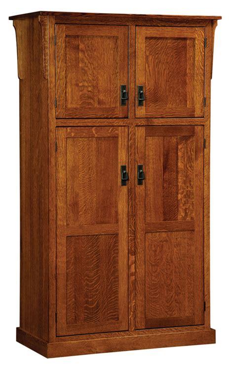 4 Door Pantry Cabinet Mission 4 Door Pantry Cabinet Amish Furniture Factory Amish Furniture Factory