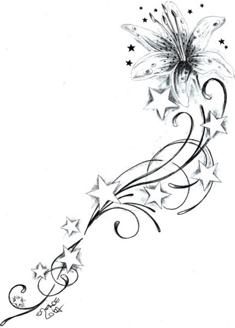 tattoo flower stars designs flower star tattoo designs flowerstarstattoodesign by