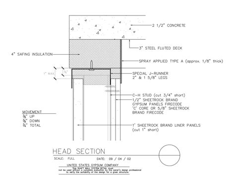 USG Design Studio   09 21 16.23.417 Shaft Wall Header