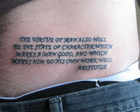 lower back tattoo quotes 35 superb good tattoo quotes creativefan