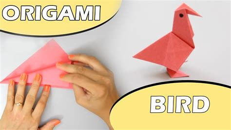 A Paper Bird - how to make a paper bird learn easy origami paper bird