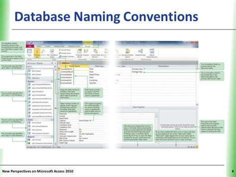 Database Table Naming Conventions by New Perspectives Access 05