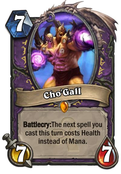 legendary card template cho gall hearthstone card hearthstone top decks