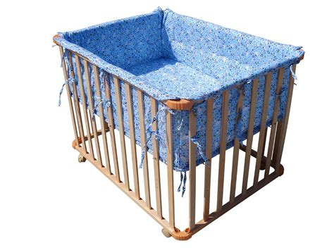 playpen bed foxhunter new baby playpen play pen cot bed wooden height