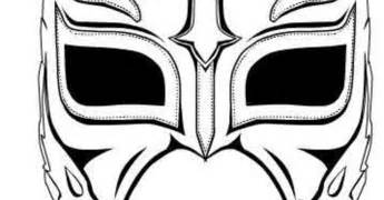 ray mysterio mask colouring pages