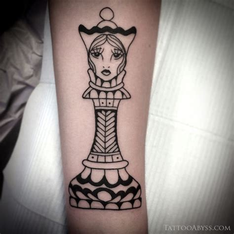 chess pieces tattoo chess abyss