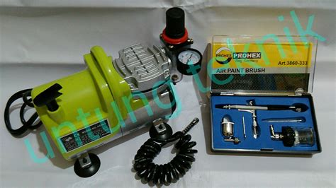 Stok Terbatas Air Brush Kit Pen Brush Spray Gun Lukis Sped jual beli promo paket kompresor mini prohex pen brush