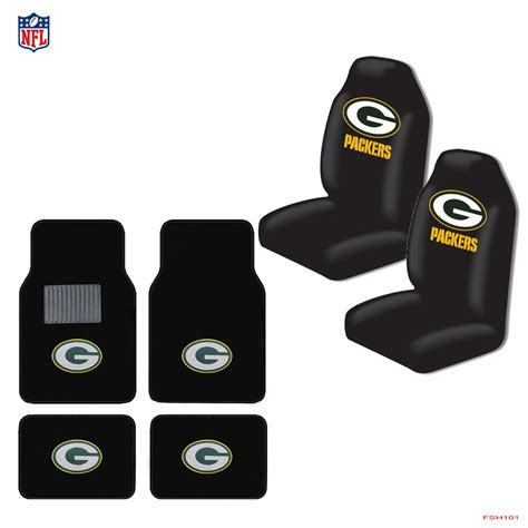 green bay packer seat covers for cars new nfl green bay packers car truck seat covers carpet