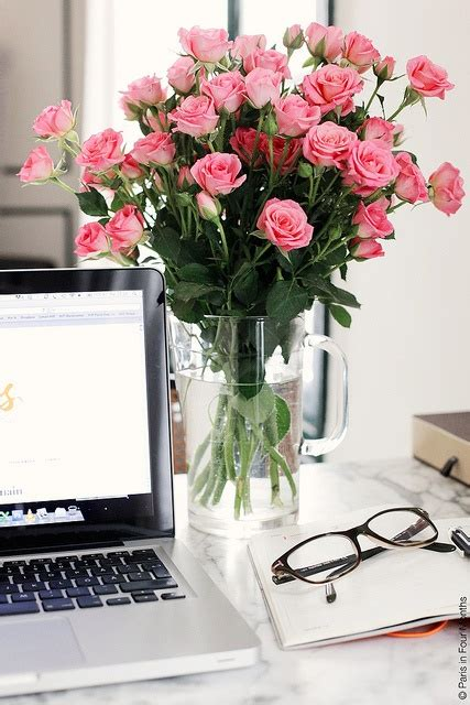 Office Desk Flowers Fresh Flowers Health Benefits