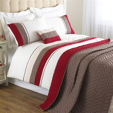 polyester bed sheets riva home chevron polyester bedding set in red next day
