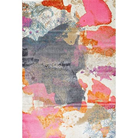 nuloom gresham pink 5 ft 3 in x 7 ft 7 in area rug
