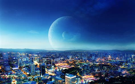 www hd city night fantasy wallpapers hd wallpapers id 10764