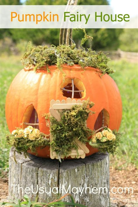 pumpkin house diy pumpkin fairy house