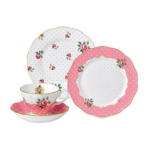 royal albert cheeky pink dinnerware collection bed bath beyond